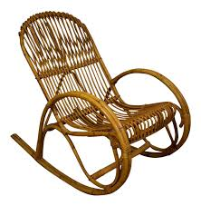 Rocking Chair Png Frank Albini Style Bamboo Rocking Chair Chairish