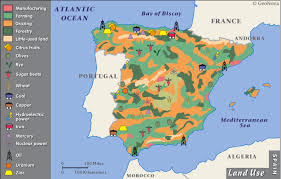 physical map of spain physical geography and environment