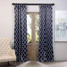 Navy Curtain Navy Curtains Drapes Window Treatments The Home Depot