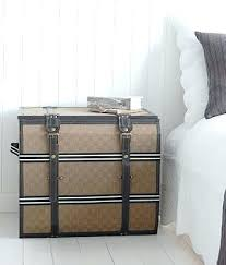 trunk style bedside tables trunk bedside table trunk bedside table contemporary feather black