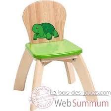 chaise verte en bois pour enfants voila s019e de meubles déco enfant