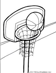 Download Coloring Pages Basketball Page Free Printable Of Players Basketball Color Page