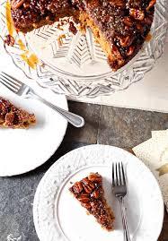 thanksgiving pie cake praline pumpkin upside down cake the speckled palate