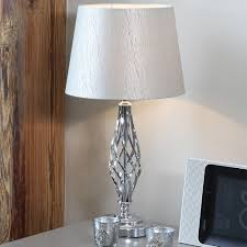 Hammered Metal Table Lamp Silver Table Lamps Ceramic Ancient Made Use Of As A Desk Light