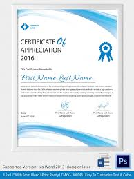 sle certificate of recognition template downloadable certificate template sles exles and formats