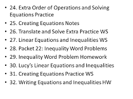 extra order of operations and solving equations practice