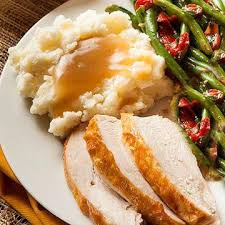 roasted turkey dinner serves 4