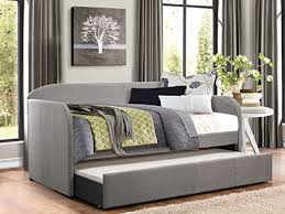 amazon com homelegance modern design daybed with trundle fully