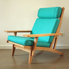 Turquoise Chair Ge 375 Lounge Chair By Hans Wegner For Getama 1960s 51535