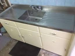 kitchen sink and cabinet unit 1950 s vintage kitchen sink unit with stainless steel top