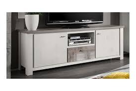 Wohnzimmerschrank Niedrig Tv Lowboard Giave Weiß Eiche Amazon De Küche U0026 Haushalt
