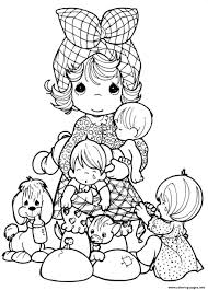 awesome free cartoon precious moments coloring pages printable