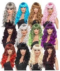 curly halloween wigs ladies siren wig long curly fancy dress wig halloween wigs ebay