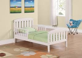 Convertible Crib Bed by Baby Nursery Kids Bed Frame With Safety Rails White Wooden