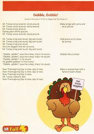 thanksgiving songs preschool
