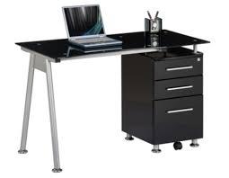 Schreibtisch Glasplatte Computertisch Schreibtisch Glastisch Nero Real