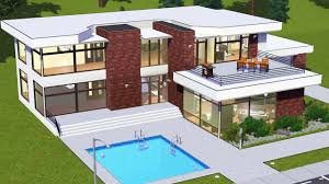simple modern house the sims 3 u2013 modern house