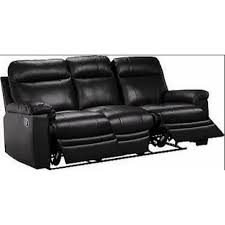 Brown Leather Recliner Sofa Pu Leather Recliner Sofa With Folding Footrest Sofas Furniture