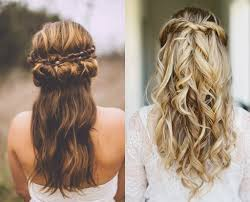 bridal half updo hairstyles classy choice of half up and half down