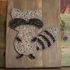Animal Wall Decor For Nursery Raccoon String Wall Decor For Home From Goodlights On Etsy