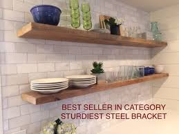 what of wood is best for shelves heavy duty reclaimed wood floating shelves with steel brackets made to order