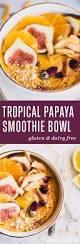 tropical papaya smoothie bowl with ginger u0026 turmeric meatified
