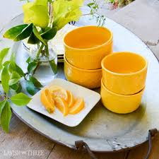 embossed country farm honeycomb bright yellow cereal bowls 4