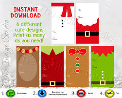 printable gingerbread man gift tags christmas printable gift tags santa suit snowman reindeer