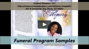 Funeral Programs Samples Zachary Douglass Llc Funeral Programs Templates On Vimeo