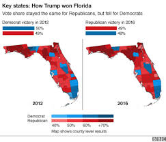 Florida Political Map by Us Election 2016 Trump Victory In Maps Bbc News