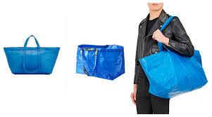 ikea si e social la shopping bag ikea se la crea balenciaga costa 1700