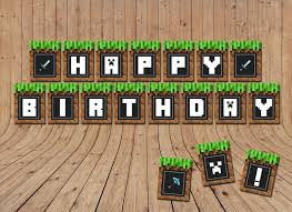 minecraft birthday party sale minecraft birthday banner minecraft by littlelight on zibbet
