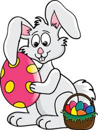 easter bunny baskets easter bunny clipart image clip illustration of a