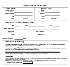 bill of sale template car sle auto bill of sale 7 documents in pdf
