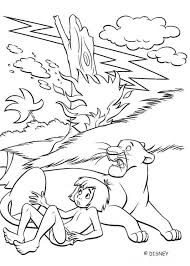 bagheera mowgli jungle coloring pages hellokids