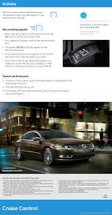 volkswagen passat cc 2016 1 g quick start guide