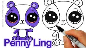 how to draw lps penny ling step by step easy littlest pet shop