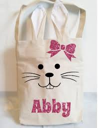 personalized easter bunny personalized easter bags bunny ear bags easter egg basket boy
