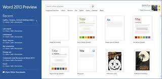 starting from blank design templates in the word 2013 office blogs