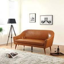 Sleeper Sofa Nyc Mid Century Modern Leather Sleeper Sofa Metal Legs Vintage