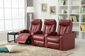 Theater Sofa Recliner Living In Style Priscilla Gel Reclining Leather Home Theater Sofa