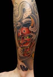 35 latest hannya leg tattoos