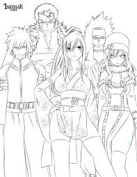 fairy tail anime colouring pages high quality coloring pages