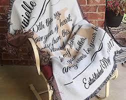 personalized wedding blanket personalized wedding blanket etsy