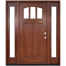 Solid Oak Exterior Doors Wood Doors Front Doors The Home Depot