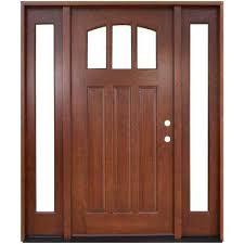 Solid Wood Exterior Doors Wood Doors Front Doors The Home Depot