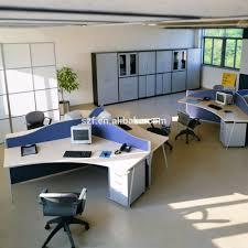 3 seats workstation computer desk partition office cubicle