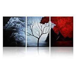 decor painting amazon com santin art modern abstract painting wall decor