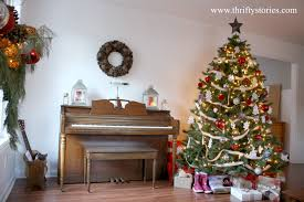 Christmas Living Room by My Frugal Holiday Living Room Thrifty Stories