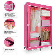 Wardrobe Clothing 30 Best Collection Of Double Canvas Wardrobe Rail Clothes Storage